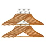 Premier Housewares 1900355 Wooden Clothes Hangers - Pack of 60