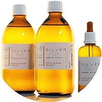 Preisvergleich für PureSilverH2O 1100ml kolloidales Silber (2X 500ml/10ppm) + Pipettenflasche (100ml/10ppm) Reinheit & Qualität seit...
