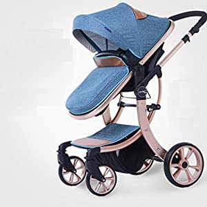 Baby stroller can sit can lie flat folding lightweight neonatal shock baby two-way stroller   11