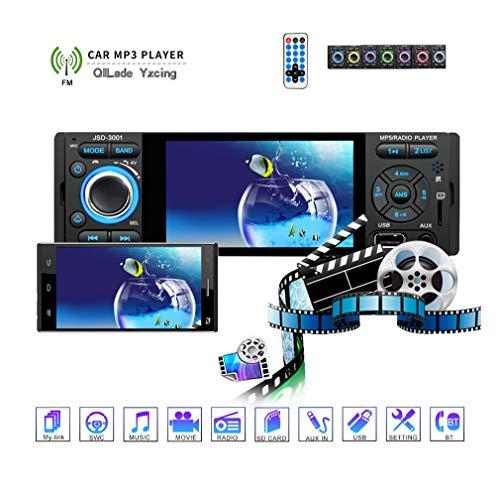 QILade Yzcing Autoradio Stereo, 4,1 Zoll LCD-Touchscreen Integriertes Bluetooth MP3 / MP5 / USB/AM/FM/RDS-Radio Rückfahrkamera-Unterstützung Externes Mikrofon - Format 3gp Converter