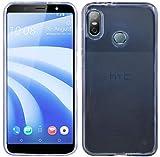 HTC U12 Life // Silikon Hülle Tasche Case Zubehör Gummi Bumper Schale Schutzhülle Zubehör in Transparent @cofi1453®