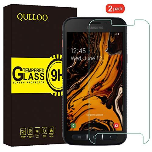 QULLOO Panzerglas für Samsung Galaxy Xcover 4S / 4 Panzerglas Schutzfolie 9H Hartglas HD Displayschutzfolie Anti-Kratzen Panzerglasfolie Handy Schutzglas Glas Folie für Galaxy Xcover 4S / 4 (4s Galaxy Handy)