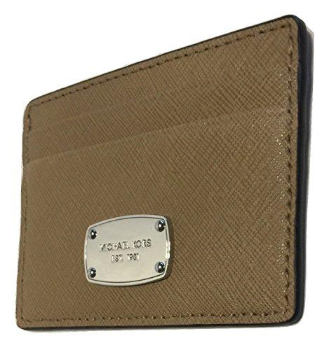 Michael Kors Jet Set Travel Credit Card Holder Case Saffiano Leather (DK Khaki) Dk Khaki