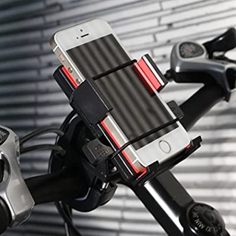Easy Handlebar Bicycle Motorcycle Phone Holder Mount IPHONE 6/6 PLUS,Samsung NOTE (holds mobile devices without case from 60mm to 90mm wide)