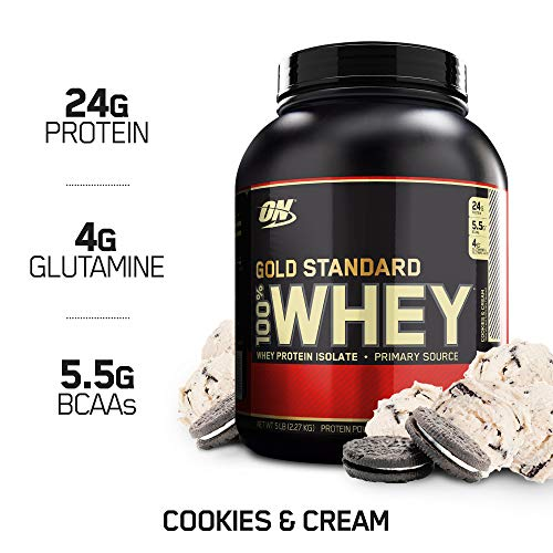 Optimum Supplemento Nutrizionale Whey Gold Std Cookies & Cream 5 lb Multi Lingual 227 kg 68 77 Porzioni
