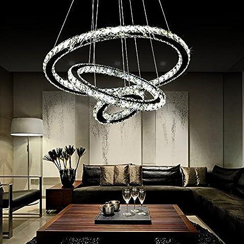 YUENLONG Moderno e minimalista LED lampadari di cristallo personalità creative ristorante Lampadari Lampade , camera da letto Ristorante luce 3 strato 600*400*200 cerchio ( ) Ambra Huang