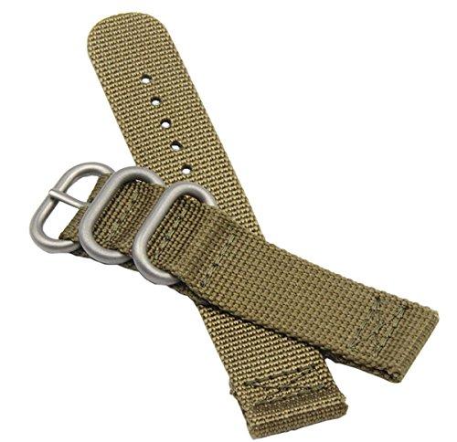 20 mm Bracelets de Montres de de Style Khaki NATO Militaire Nylon Durable Bandes de Rechange pour Les Hommes