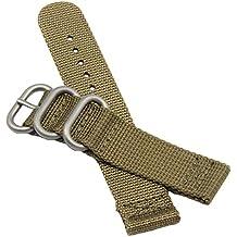 20mm de color caqui de lujo militares de nylon duradero de la NATO reloj estilo correas bandas reemplazos para los hombres