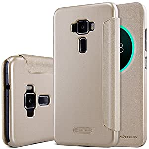 Nillkin Sparkle Series Circle Smart Window & Sleep Function Leather Flip Cover Case For Asus Zenfone 3 ( Ze520Kl ) ( 5.2 Inch Display ) - Gold