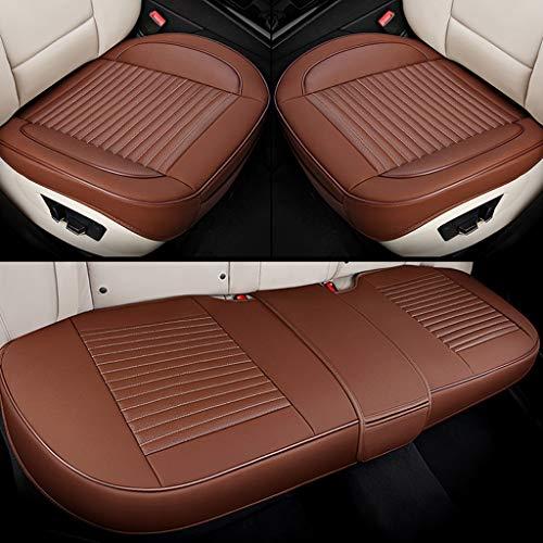 GAIXIA Autositzbezug Kissen atmungsaktives Kissen Autoinnenraum 3-teiliges Vorder- und Rückenteil Universal-Leder Auto Jahreszeiten Sitzbezug (Farbe : Kaffee) - Kaffee-pakete Individuelle
