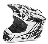 Fly 2017bicicleta por defecto MTB BMX Downhill casco completo de jóvenes blanco/negro, color blanco/negro, tamaño Medium