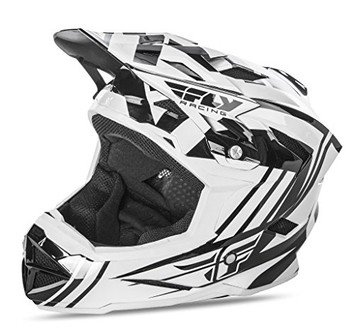 Fly 2017 bicicleta por defecto MTB BMX Downhill casco completo de adultos blanco/negro, color blanco/negro, tamaño Large