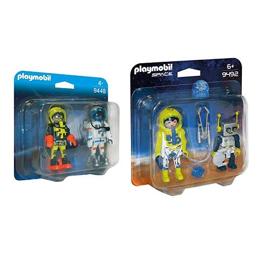 Playmobil 9448 - Duo Pack Space Heroes &  9492 Spielzeug-Duo Pack Astronaut und Roboter