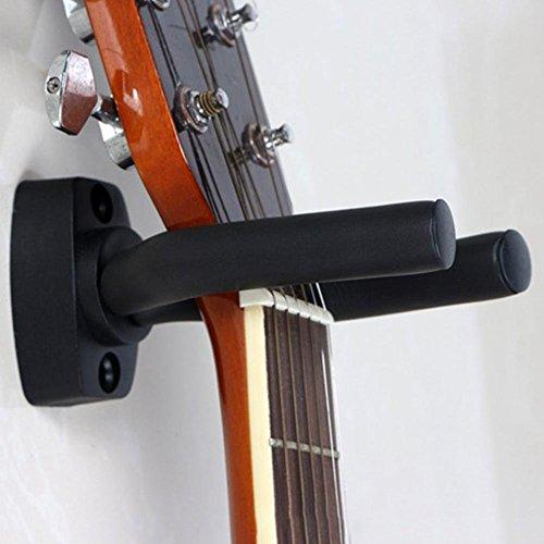 Preisvergleich Produktbild Wall Mount Guitar Hanger Haken,  schwarze Gitarre Halterung für Gitarre,  Banjo,  Bass,  Ukulele und etc