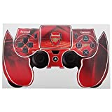 Arsenal FC Official Football Crest PS4 Controller Sticker Skin (PS4) (Red)