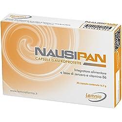 NAUSIPAN Capsule gastroprotette Integratore Alimentare a Base di Zenzero e Vitamina B6