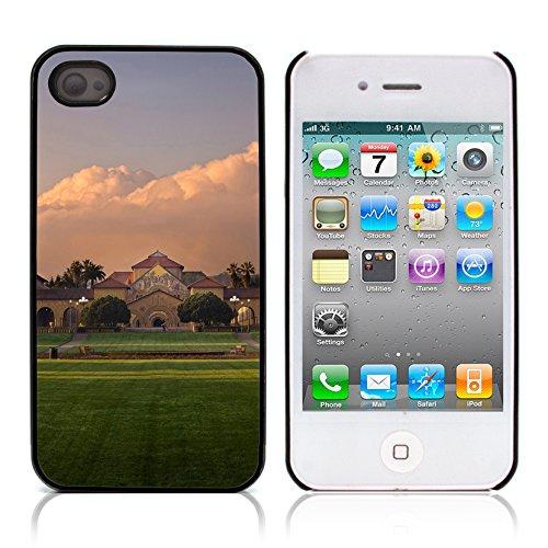 Graphic4You Monaco Postkarte Ansichtskarte Design Harte Hülle Case Tasche Schutzhülle für Apple iPhone 4 und 4S Design #14