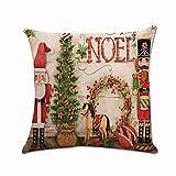 TEBAISE 45 x 45cm Kissenbezug Weihnachten Drucken Färben Sofa Bett Home Decor Kissen Cover Karneval Fasching Fasnacht Weihnachten Zierkissenschutzbezüge