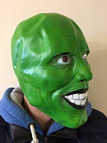 'Die Maske' Grüne Maske Aus Latex Jim Carrey Film Kostüm Loki Halloween Party
