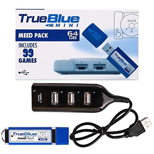 Polai True Blue Mini Weed Pack für Playstation Classic, 64 GB, 99 Spiele