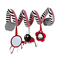 TININNA Baby Pram Crib Spiral Activity Toy Cute Plush Animal Design Hanging Rattles Spiral Toys Stroller Toy Baby Car Seat Toy
