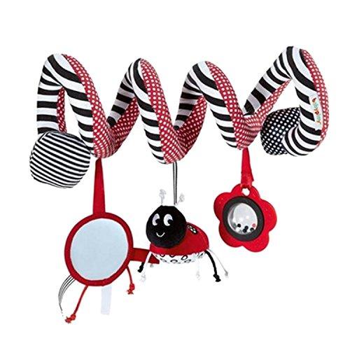 TININNA Baby Pram Krippe Spirale Aktivität Spielzeug Niedlich Plüsch Tier Design Hängende Rasseln Spirale Spielzeug Kinderwagen Spielzeug Baby Auto Sitz Spielzeug EINWEG Verpackung
