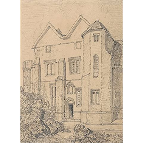 JOHN SELL COTMAN Upwell rectoría, Norfolk c1816. Inglés 18th-siglo 19. Cartel de la reproducción en 200gsm A3 satén de seda lustre bajo tarjeta del