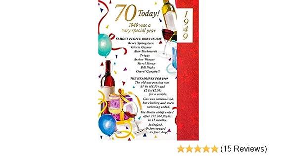 Simon Elvin 2019 70th Male Birthday Card