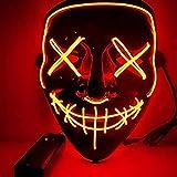 BangShou Halloween LED Máscaras Purga de Máscaras de Halloween Craneo Esqueleto Mascaras para la...