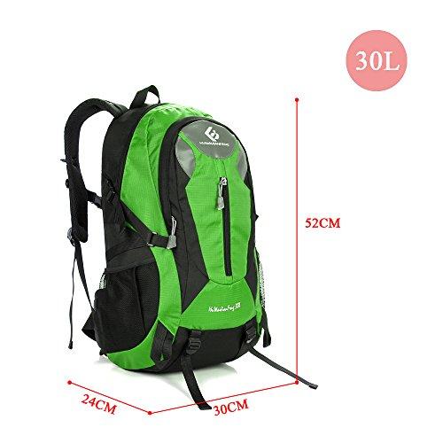 Docooler Zaino Montagna 30L Professionale per Riciclaggio Viaggio Campeggio Verde