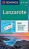 Lanzarote: 3in1 Wanderkarte 1:50000 mit Aktiv Guide und Detailkarten. Fahrradfahren. Autokarte. (KOMPASS-Wanderkarten, Band 241)