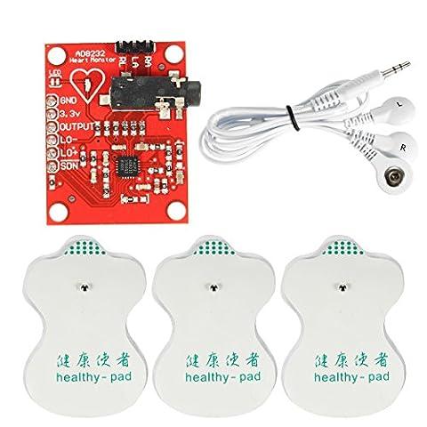 Bluelover Dc 3,3 V Ad8232 Ekg Measurement Modul Kit Portable Heart Monitor Biological