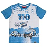 SALT AND PEPPER Jungen T-Shirt Police Photoprint, Blau (Ocean Blue 429), 128 (Herstellergröße: 128/134)
