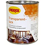 Pigrol Transparentlack für Holz Innen und Außen 1124 nussbaum 0,375L