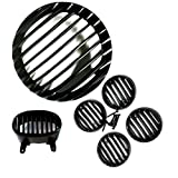 #4: Auto Hub Plastic Grill Set For Bajaj Avenger - Black (Set of 6)
