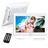 10 Pulgadas Marcos Digitales, NeKan 1024 × 600 de Alta resolución / 1080P HD portaretratos Digitales con Control Remoto