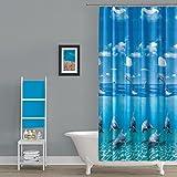 Anti Schimmel & Bakteriell EDLER Textil Duschvorhang 120 x 200 cm Delfin
