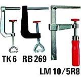 Bessey RB269 Serre-joints Pince de table, Rouge/Noir, 60/28mm
