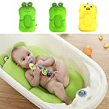 Cojín de baño para bebé, antideslizante, suave y flotante, almohada de baño para bebé y tumbona para recién nacido, almohadilla para bañera de 0 a 6 meses amarillo amarillo