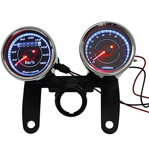 Motor Digitaler Drehzahlregler,12V Motorrad Universal LED Kilometerzähler Tachometeranzeige Für Motorrad Motor Hub Motor Auto Boot Motorrad