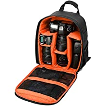 Profesional Cámara Mochila impermeable para cámaras réflex digitales/cámaras réflex (Canon, Nikon, Sony y etc.), trípodes, flashes, objetivos y accesorios