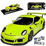 alles-meine GmbH Porsche 911 991 GT3 RS Coupe Licht Grün Ab 2013 Limitiert 1002 Stück 1/18 Minichamps Modell Auto