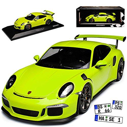 Minichamps Porsche 911 991 GT3 RS Coupe Licht Grün Ab 2013 limitiert 1002 Stück 1/18 Modell Auto mit individiuellem Wunschkennzeichen - Modelle
