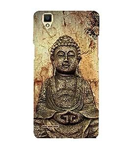 Gautam Buddha 3D Hard Polycarbonate Designer Back Case Cover for Oppo F1