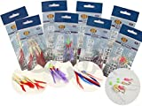 8 Packs Bass And Mackerel Herring Feathers Lure - Best Reviews Guide