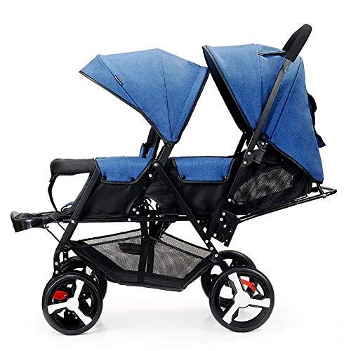 PIGE Doppelter Säuglingslaufkatze, Doppelkinderwagen-leichte faltende doppelte Zweisitzer-Kinderwagen-Geländeversion,