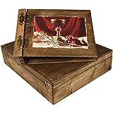 Grueso 75hojas hölzerndes álbum en una estuche de madera Comunión