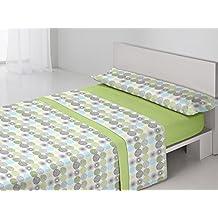 Juego de sábanas DENIA Purpura Home. Cama 150 cm. Color Verde - Sedalinne