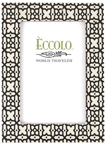 ECCOLO World Traveler Naturals Holz Bilderrahmen, 10,2x 15,2cm Persisch-Gitter, - Persische Dekor