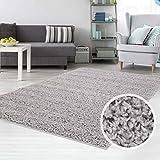 carpet city Teppich Shaggy Hochflor Langflor Flokati Einfarbig/Uni aus Polypropylen in Grau für Wohn-Schlafzimmer, Größe: 230x320 cm